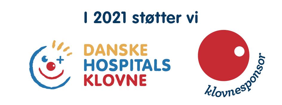 Vi støtter danske hospitals klovne 2021